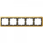Antique frame, 5-gang, Polished brass