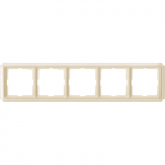 Antique frame, 5-gang, White