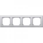 M-Plan frame, 4-gang, Aluminium