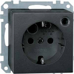 SCHUKO® timer socket-outlet insert withimproved protection against accidentalcontact, Anthracite