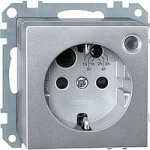 SCHUKO® timer socket-outlet insert withimproved protection against accidentalContact, Aluminium