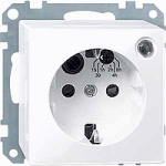 SCHUKO® timer socket-outlet insert withimproved protection against accidentalContact, Active White
