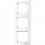 M-Plan frame, 3-gang with labelling option, vertical installation, Active White