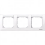 M-Plan frame, 3-gang with labelling option, horizontal installation, Active White