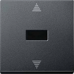 Blind push-button with IR receiver and sensor connection, Anthracite