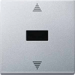 Blind push-button with IR receiver and sensor connection, Aluminium