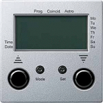 Blind time switch with sensor connection, Aluminium