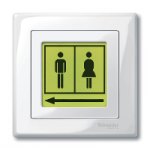 Labelling sheet set for LED light signal insert, positive pring
