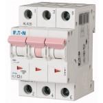Miniature circuit breaker PL7, 3P, 2 A, 10 kA, C