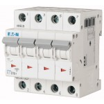 Miniature circuit breaker PL7, 4P, 16 A, 10 kA, C