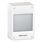 Surface enclosure, Titanium white/Metal grey, 1 x 18