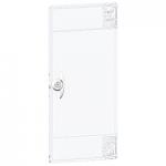 Opaque door Flush/Surface mounting, Titanium white, 1 row