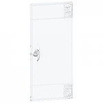 Opaque door Flush/Surface mounting ,Titanium white, 2 rows