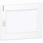 Transparent door Flush/Surface mounting 1 x 24, Crystal