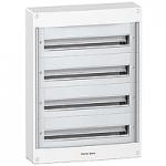 Surface enclosure, Titanium white/Metal grey, 4 x 24