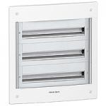 Flush enclosure, Titanium white/Metal grey, 3 x 24