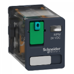 Power relay RPM 2 C/O 110V DC 15 A without LED
