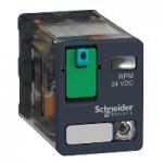 Power relay RPM 2 C/O 12 V DC 15 A with LED