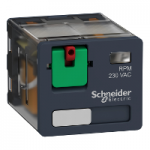 Power relay RPM 3 C/O 24 V AC 15 A without LED