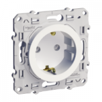 Socket-outlet 16 A 2P + E, shuttered, White