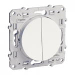 Lightable Switch 10 AX double, one-way, White