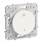 Lightable Switch 16 AX double pole one-way, White