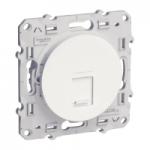 RJ45 data socket, center plate + fixing frame, single, White