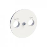 R-TV/SAT center plate, White