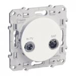 R-TV/SAT socket, passage, White