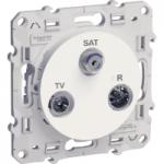 TV/SAT/R socket, single, White