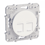 RJ45 6 category, shielded, double, White