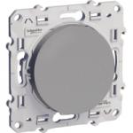 Lightable Push-button 10 AX, Aluminium