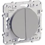 Lightable Switch 10 AX double, one-way, Aluminium