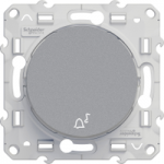 "Lightable Push-button 10 AX with ""bell"" symbol, Aluminium"