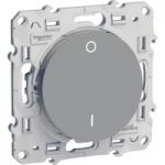 Lightable Switch 16 AX double pole one-way, Aluminium