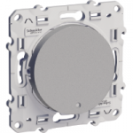 Switch with indicator lamp 10 AX two-way, Aluminium