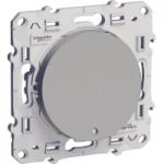 Lightable Push-button 10 AX with locator lamp, Aluminium