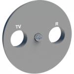 R-TV/SAT center plate, Aluminium