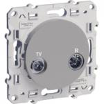 TV/R socket, individual, Aluminium