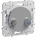 R-TV/SAT socket, individual, Aluminium