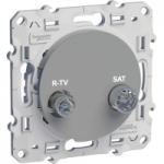 R-TV/SAT socket, terminal, Aluminium