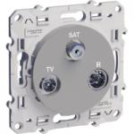TV/SAT/R socket, single, 2 input, Aluminium
