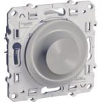Rotary dimmer 40-600 VA, two-way switch, Aluminium