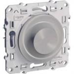 Rotary dimmer 4-400 VA, two-way switch, Aluminium