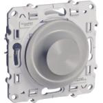 Rotary dimmer 20-420 VA, two-way switch, Aluminium