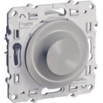 Rotary dimmer 9-100 VA, two-way switch, Aluminium
