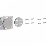 Push-button for roller blind and light, Aluminium