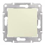 1-way Switch IP44 10 AX - 250 V AC, Beige
