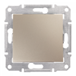1-way Switch IP44 10 AX - 250 V AC, Titanium