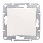 2-pole Switch 16 AX -250 V AC, Cream